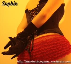 Sophie en rouge et noir